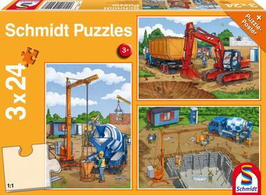Op de bouwplaats - Puzzel (3x24)