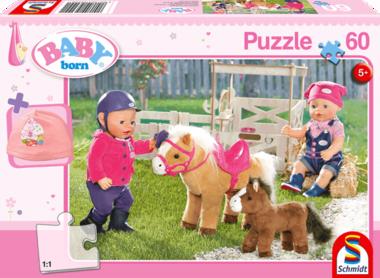 Baby Born: Bij de Ponyboerderij - Puzzel (60) [+ GRATIS BABY BORN MUTS]