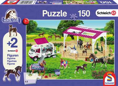 Rijschool en dierenarts - Puzzel (150) [+ 2 GRATIS SCHLEICH MINIATUREN]