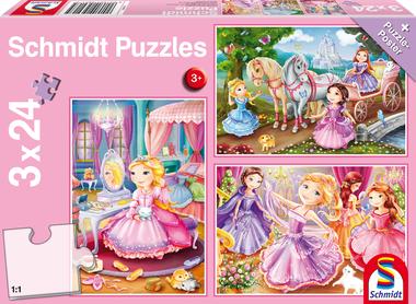 Sprookjesachtige Prinsessen - Puzzel (3x24)