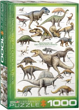 Dinosaurs of the Cretaceous Period - Puzzel (1000)