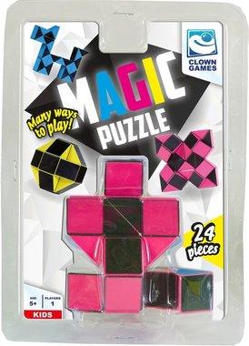 Magic Puzzle 3D - 24 delen (Roze)