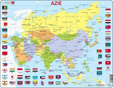 Puzzel LARSEN: Azië met vlaggen (70)