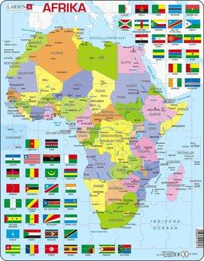 Puzzel LARSEN: Afrika met vlaggen (70)