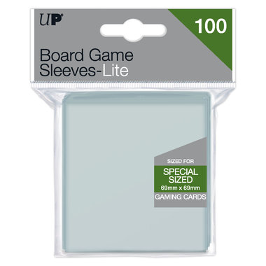Ultra Pro Lite Board Game Sleeves: Special Sized Square (69x69mm) - 100 stuks