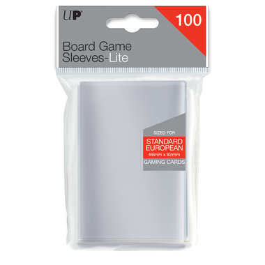 Ultra Pro Lite Board Game Sleeves: Standard European (59x92mm) - 100 stuks