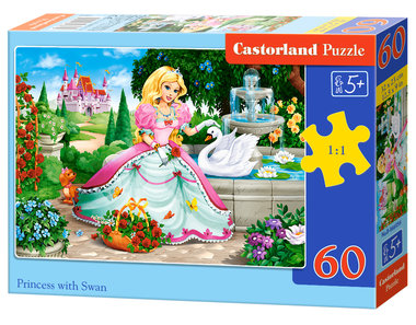 Princess with Swan - Puzzel (60)