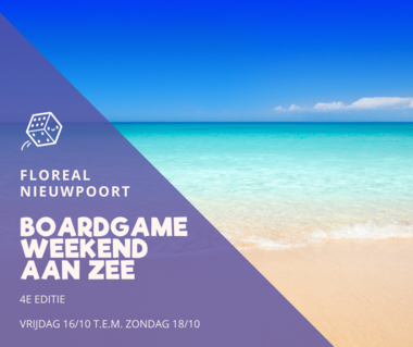 Boardgameweekend aan Zee (2020): Studio (2+1 personen)