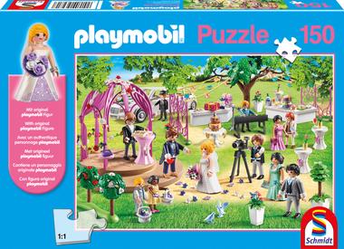Bruiloft - Puzzel (150) [+ GRATIS PLAYMOBIL MANNETJE]