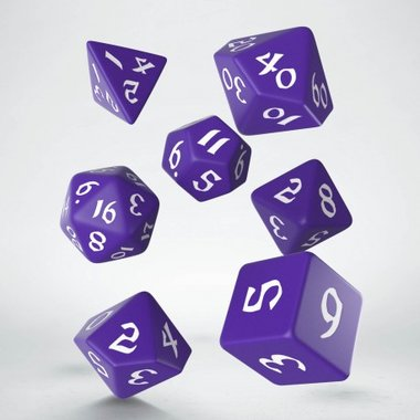 Classic Runic Dice Set Purple & White (7 stuks)
