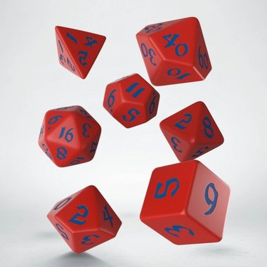 Classic Runic Dice Set Red & Blue (7)