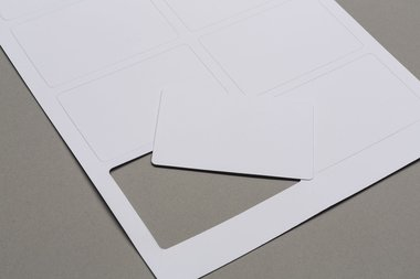 Sheet with blank cards (59x91mm)
