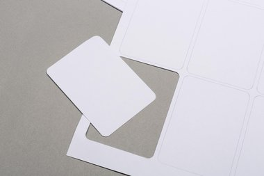 Sheet with blank cards (61x87mm)