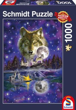 Wolf in het maanlicht - Puzzel (1000)