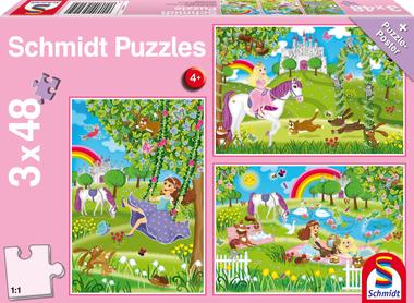 Prinses in de Slottuin - Puzzel (3x48)