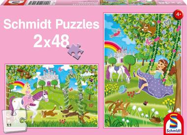 Prinses in de Slottuin - Puzzel (2x48)