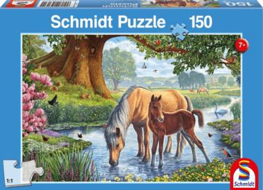 Paarden in de Beek - Puzzel (150)