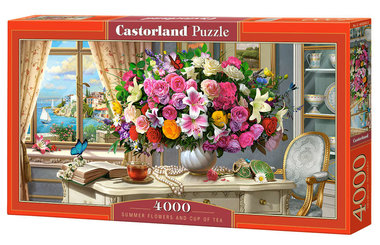Summer Flowers and Cup of Tea - Puzzel (4000)