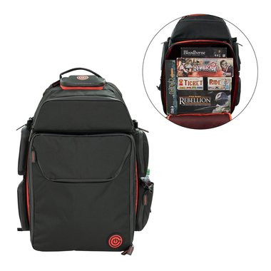 GeekOn! The Ultimate Boardgame Backpack (Black/Red)
