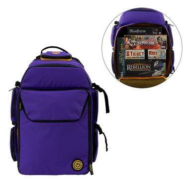 GeekOn! The Ultimate Boardgame Backpack (Purple/Yellow)