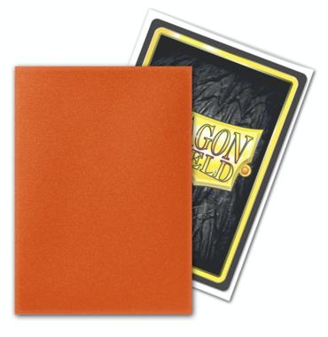 Dragon Shield Card Sleeves: Standard Matte Tangerine (63x88mm) - 100 stuks