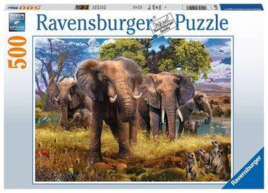 Olifantenfamilie - Puzzel (500)