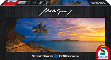 Tokoriki Island Sunset, Mamanuca Islands, Fiji - Panorama Puzzel (1000)