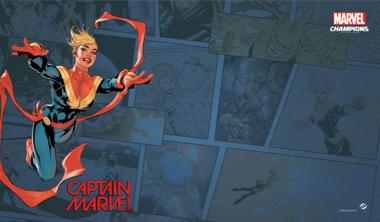 Marvel: Champions - Captain Marvel Game Mat