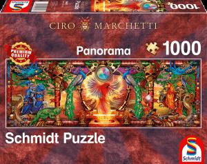 In het rijk van de vuurvogels (Ciro Marchetti) - Panorama Puzzel (1000)