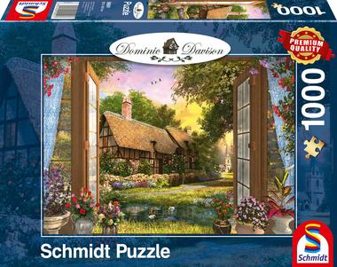 Uitzicht op de cottage (Dominic Davison) - Puzzel (1000)