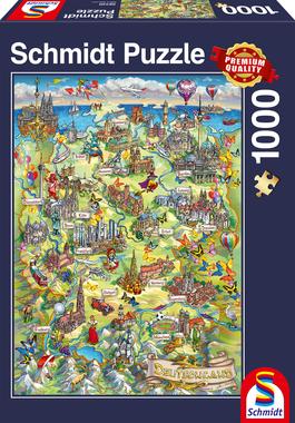 Geïllustreerde kaart van Duitsland - Puzzel (1000)