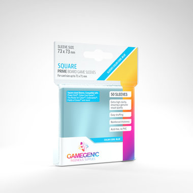 Gamegenic Prime Board Game Sleeves: Square (73x73mm) - 50