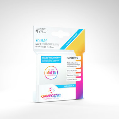 Gamegenic Matte Board Game Sleeves: Square (73x73mm) - 50