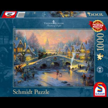 Dorp in de winter (Thomas Kinkade) - Puzzel (1000)