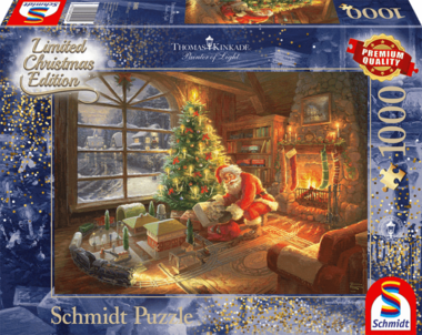 De Kerstman is er! (Thomas Kinkade) - Puzzel (1000)