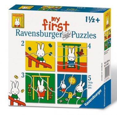 My First Puzzles: Nijntje in de speeltuin - Puzzel (2+3+4+5)