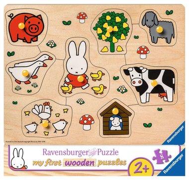 My First Wooden Puzzle: Nijntje op de boerderij - Houten Puzzel (8)