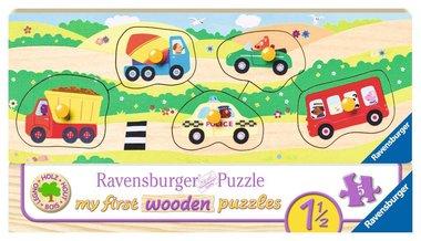 My First Wooden Puzzle: Allereerste voertuigen - Houten Puzzel (5)