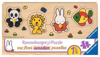 My First Wooden Puzzle: Nijntje en haar dierenvriendjes - Houten Puzzel (4)