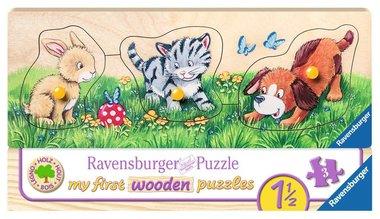My First Wooden Puzzle: Schattige Babydieren - Houten Puzzel (3)