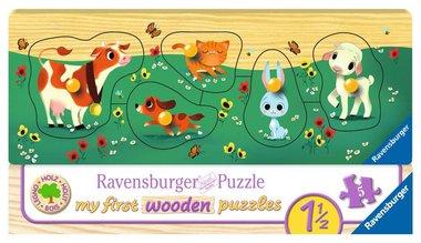 My First Wooden Puzzle: Liefste Dierenvriendjes - Houten Puzzel (5)