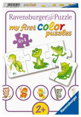 My First Color Puzzles: Mijn Liefste Babydieren - Puzzel (6x4)