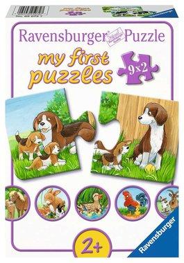 My First Puzzles: Dierenfamilies op de Boerderij - Puzzel (9x2)