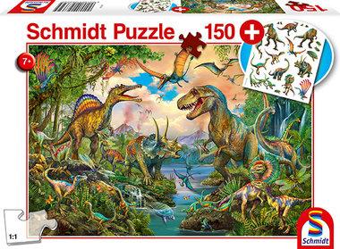 Wilde Dino's - Puzzel (150)