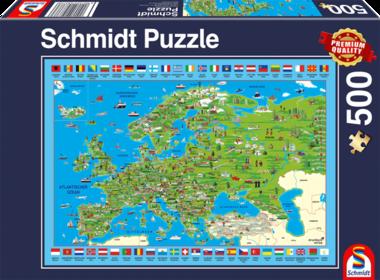 Europa ontdekken - Puzzel (500)