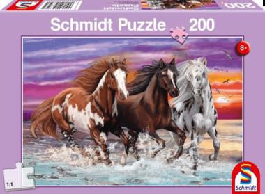 Trio wilde paarden - Puzzel (200)