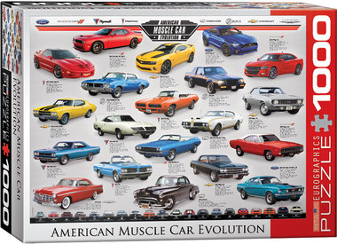 American Muscle Car Evolution - Puzzel (1000)