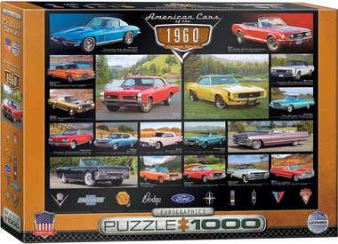 American Cars of the 1960s - Puzzel (1000)