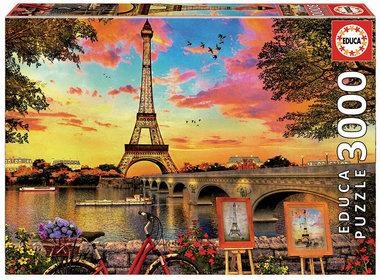 Zonsondergang in Parijs - Puzzle (3000)