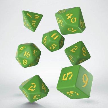 Classic Runic Dice Set Green & Yellow (7)